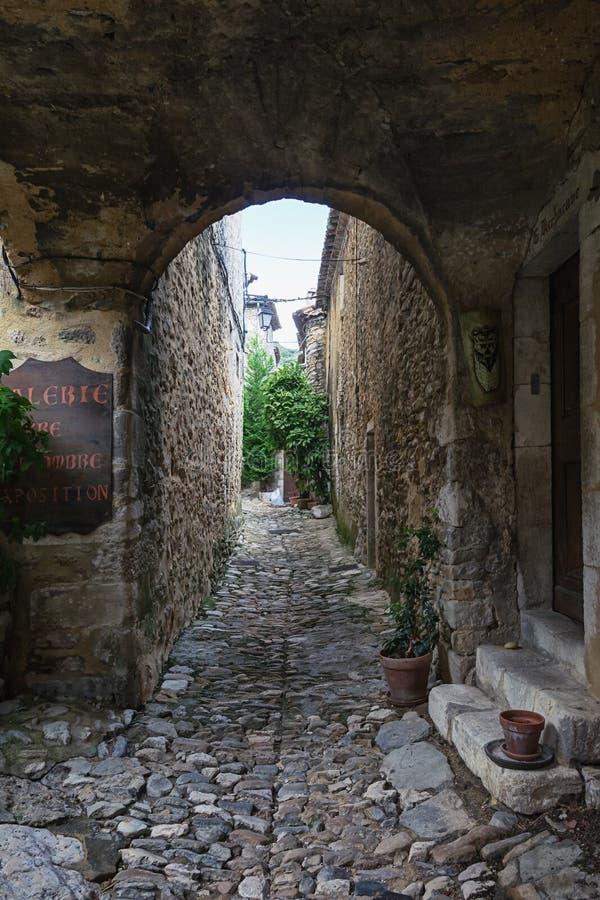 Wrażenie wioska święty Montan w Ardeche regionie obrazy royalty free