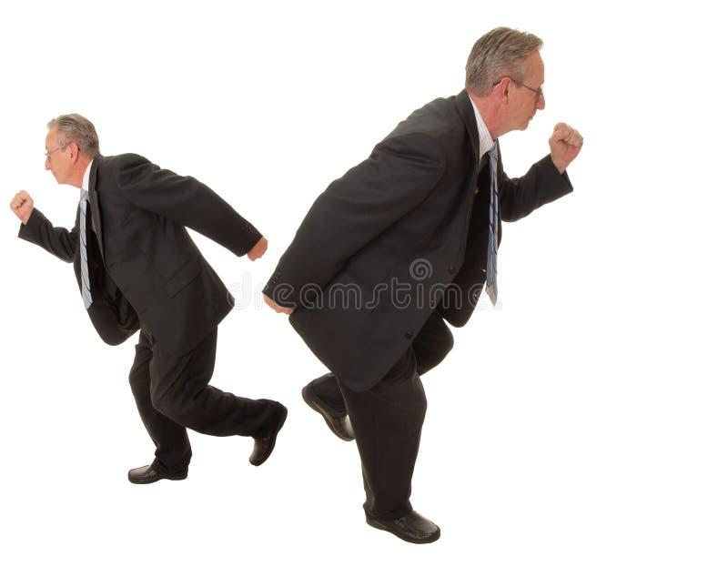 wraca do biznesmena senior zdjęcie stock