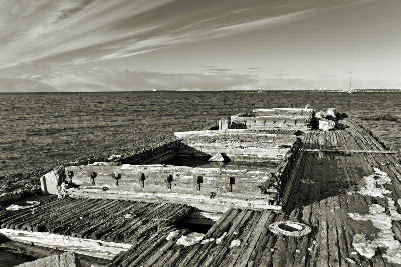 wrack купеческого корабля стоковое изображение