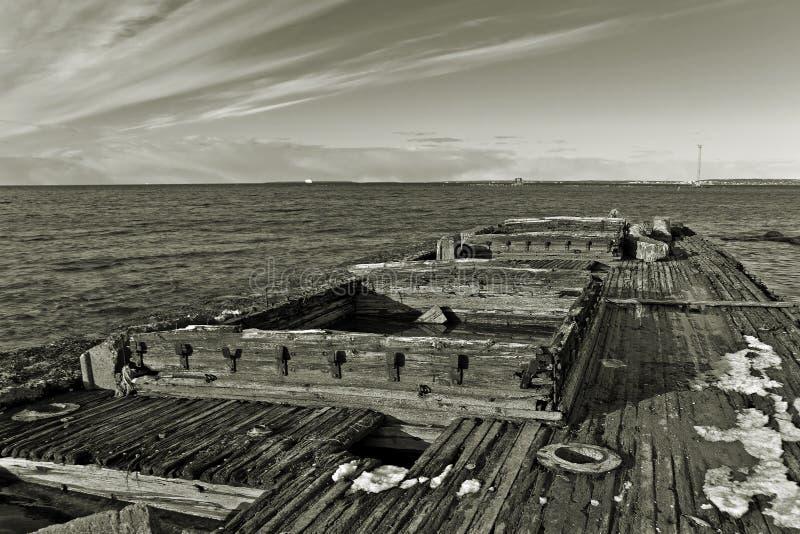 wrack купеческого корабля стоковое изображение rf