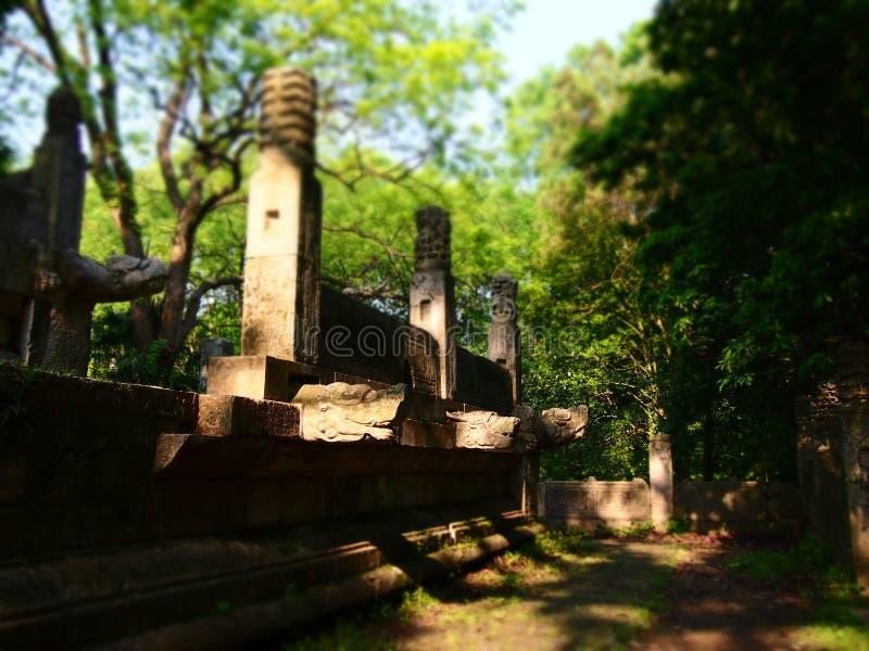 Wracke der Xiang Halle, Ming Xiaoling Mausoleum. stockbilder