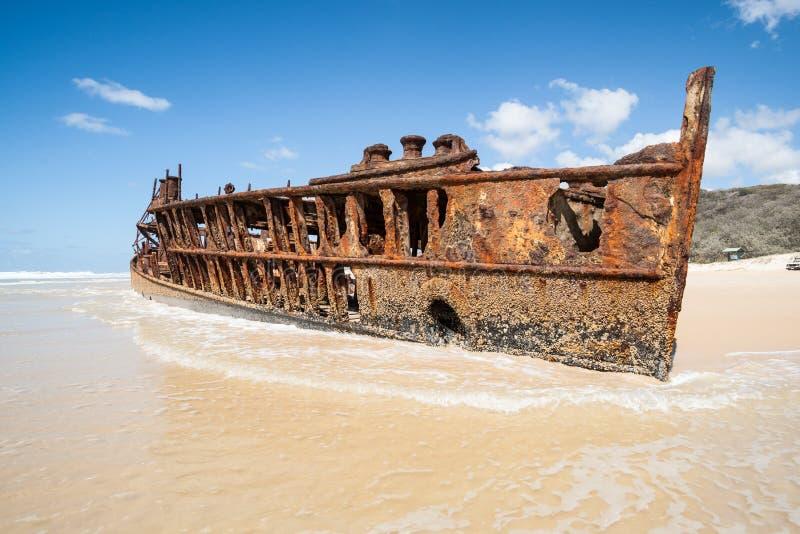 Wrak Maheno, Fraser wyspa. obraz royalty free