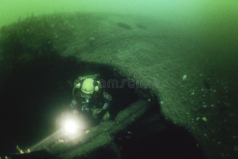 Wrak oceanu liniowa imperatorowa Irlandia w St Lawrance rzece obraz stock