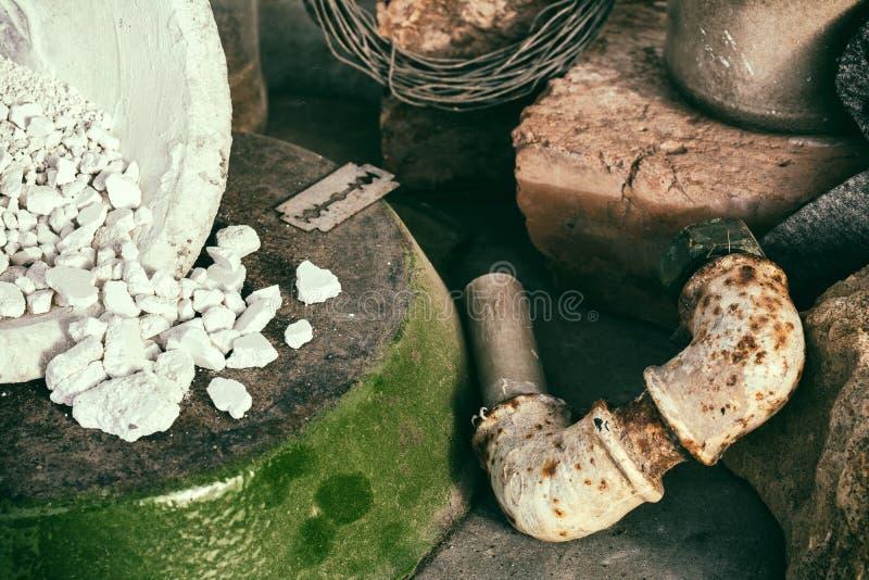 Wrakstukken en Jetsam stock fotografie