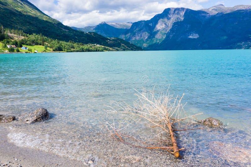 Wrakstukken in het Nationale Park van Jostedalsbreen royalty-vrije stock foto