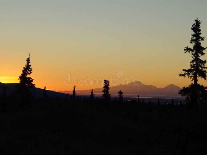 Wrangell - αυγή του ST Elias στοκ φωτογραφία