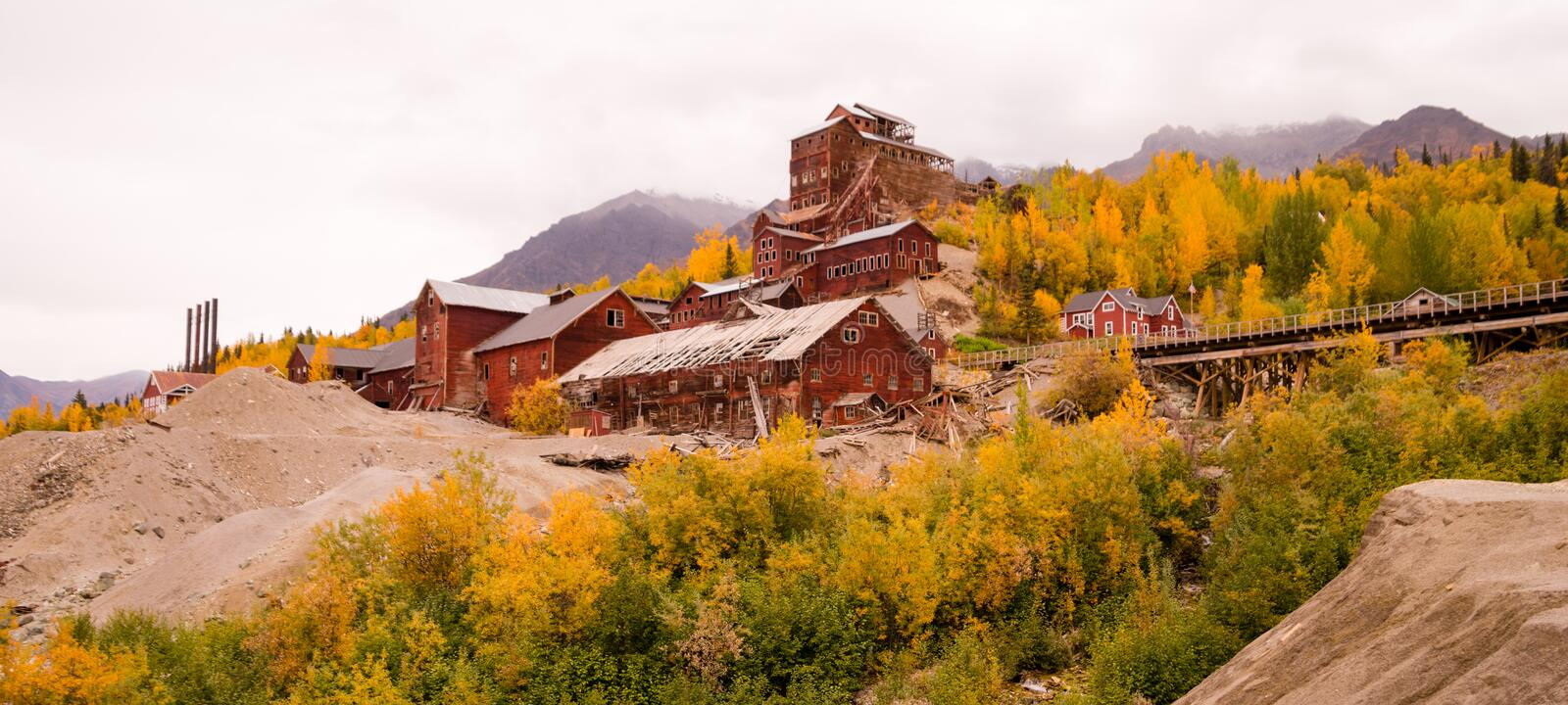 Wrangell St Elias Kennecott Mines Concentration Mill Alaska Wild royalty free stock photos