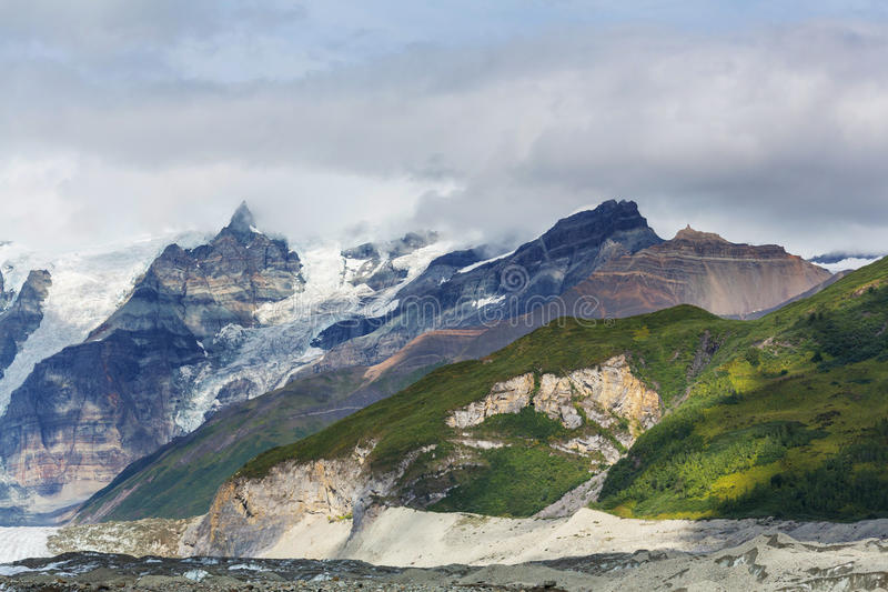 Wrangell-StElias NP fotografering för bildbyråer