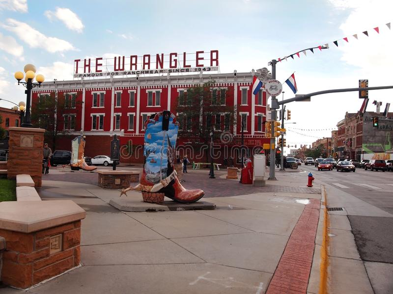 The Wrangler and Cheyenne Big Boots royalty free stock photography