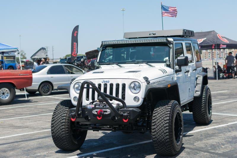 Wrangler Rubicon della jeep fotografia stock libera da diritti