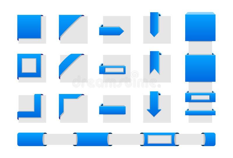 Wrap corners royalty free illustration