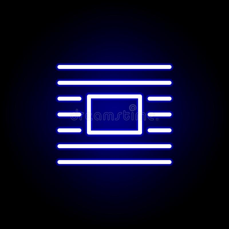 Wrap icon in neon style. Can be used for web, logo, mobile app, UI, UX royalty free illustration