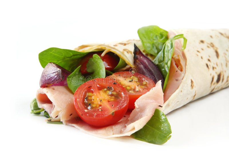 Wrap Sandwich royalty free stock photography