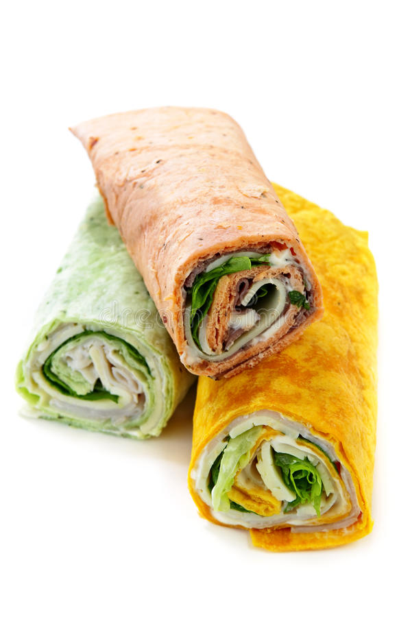 Wrap sandwiches stock photos