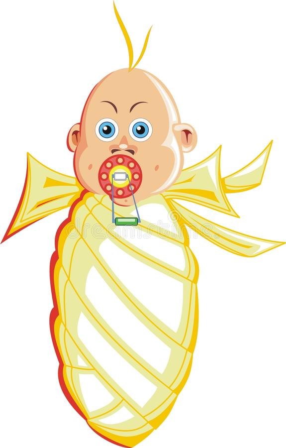 Download Wrapped baby illustration stock vector. Image of girl - 13243555