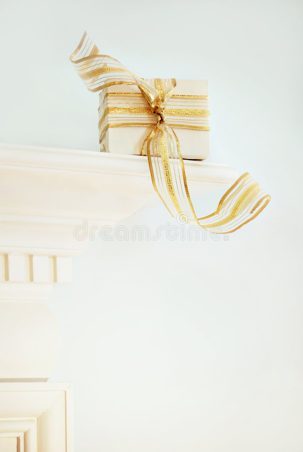 Download Wrapped Christmas present stock photo. Image of xmas, closeup - 3709414
