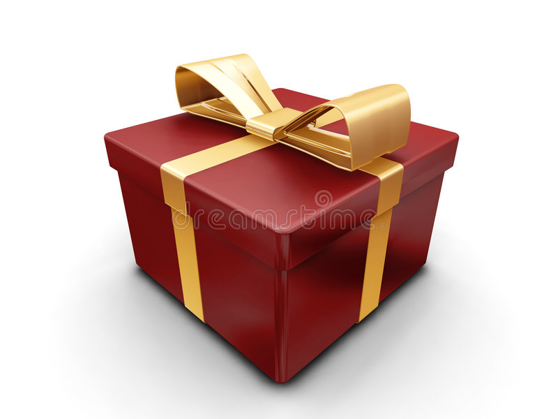 Wrapped gift stock illustration