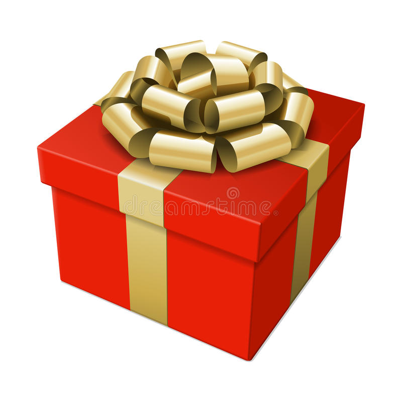 Download Wrapped gift box with bow stock illustration. Image of luxurious - 21272486