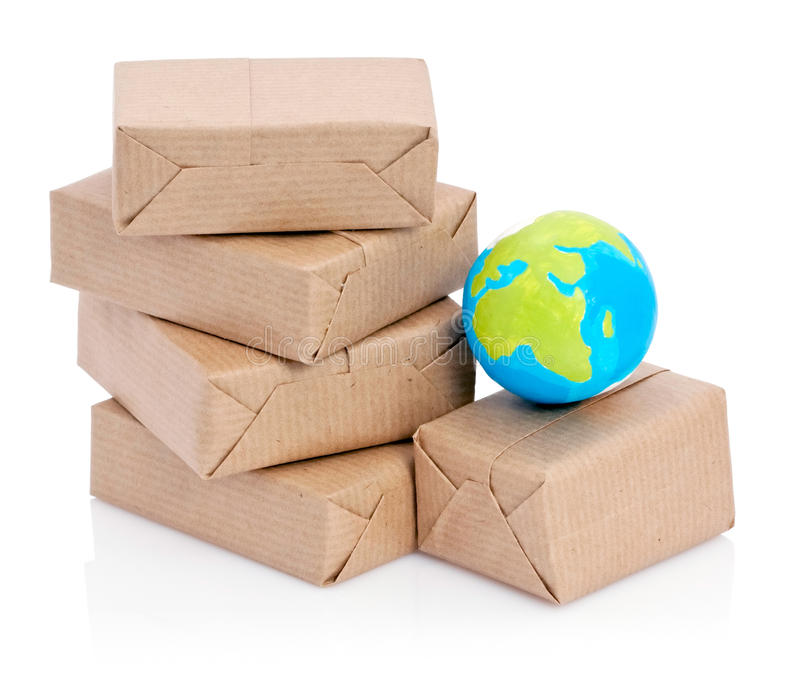 Download Wrapped packages and globe stock photo. Image of several - 13517424