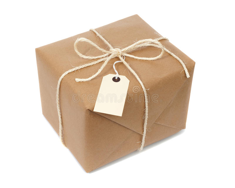 Wrapped Parcel stock photo