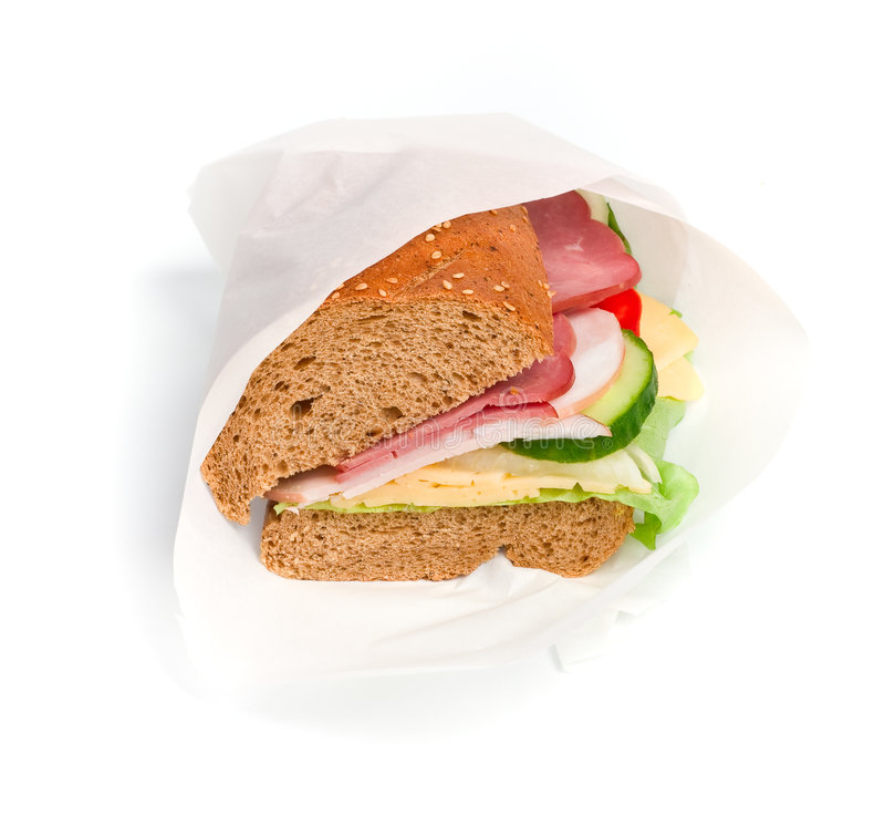 Wrapped sandwich royalty free stock photo