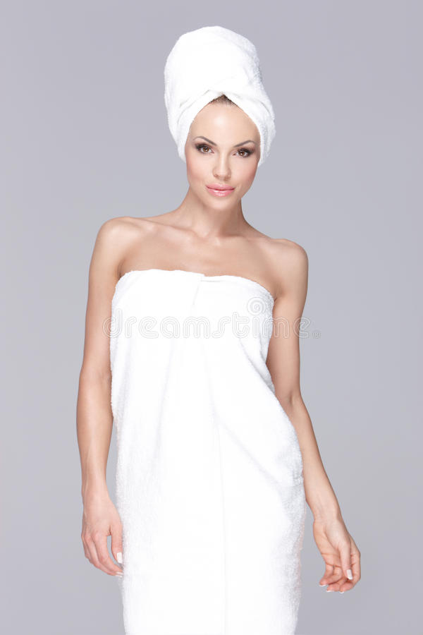 Wrapped In Towel Royalty Free Stock Image