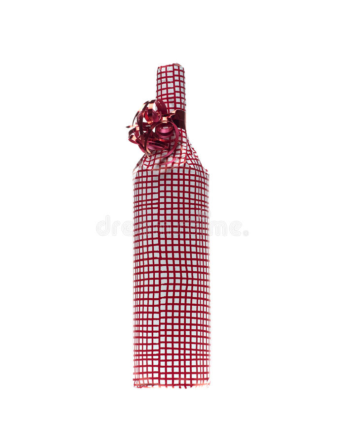 Wrapped in wine bottle royalty free stock photos