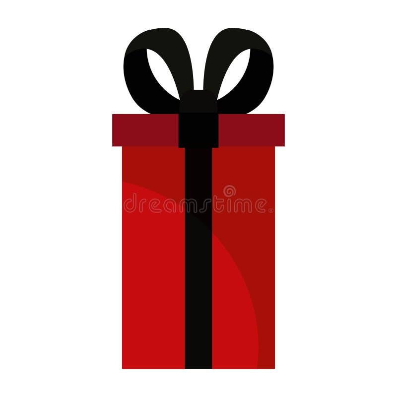 Wrapper gift box on white background stock illustration