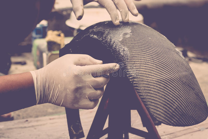 Wrapping carbon fiber or kevlar stock image