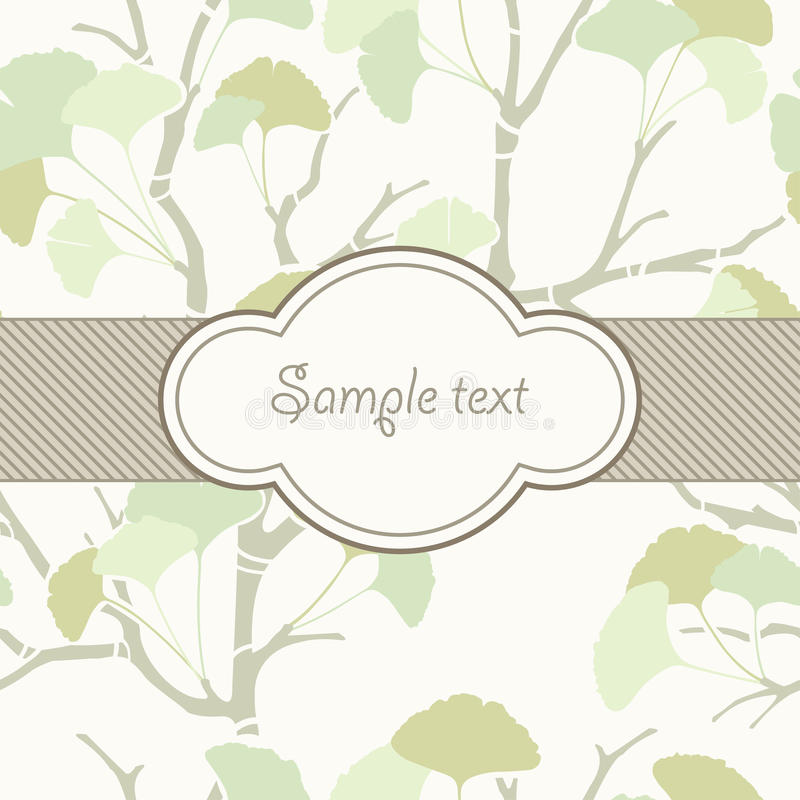 Download Wrapping paper stock vector. Illustration of modern, ginkgo - 20791684