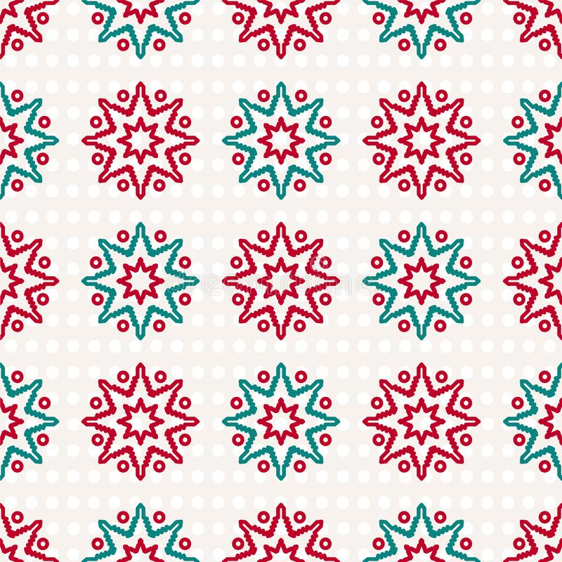 Wrapping paper for Christmas presents. Retro Merry Christmas background with snowflakes. vector illustration