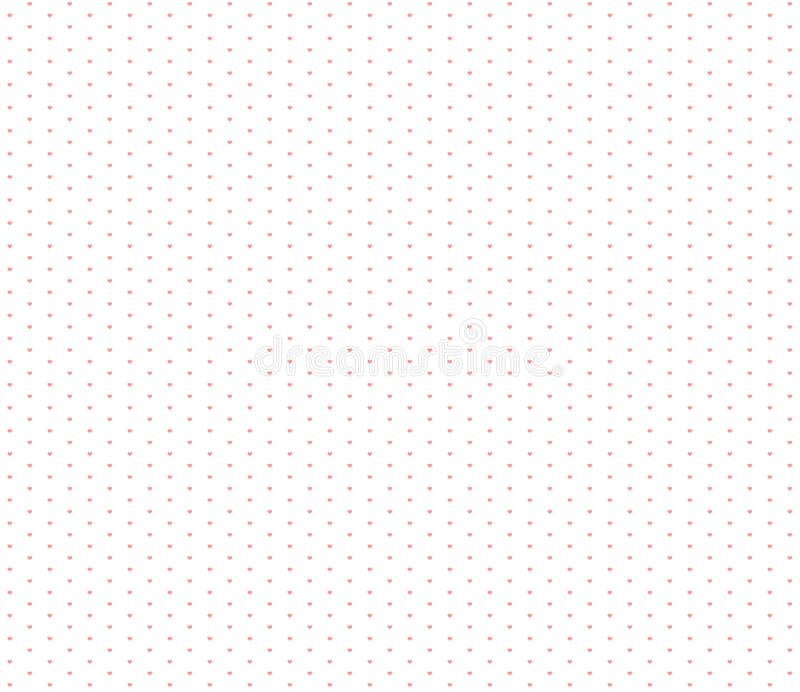 Wrapping paper hearts seamless pattern little heart vector illustration