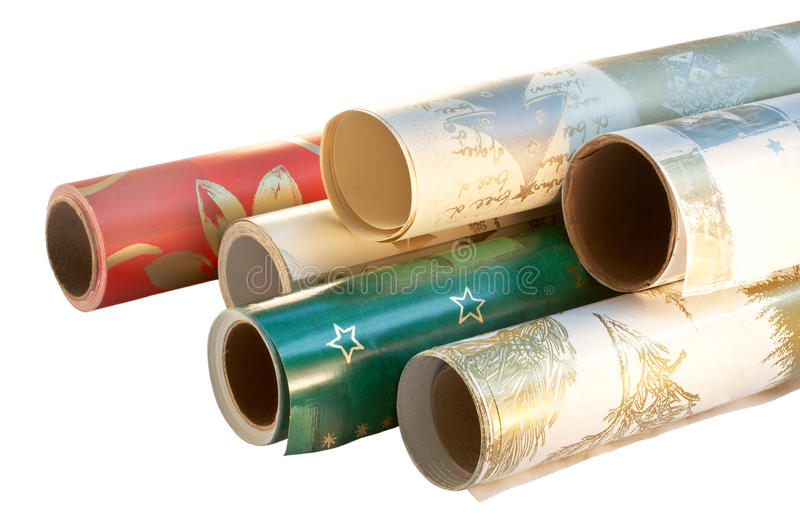 Download Wrapping paper rolls stock image. Image of presents, festive - 20926237