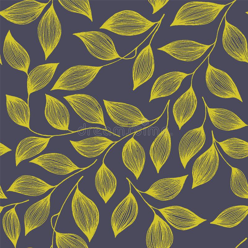 Wrapping tea leaves pattern seamless vector illustration royalty free stock photo