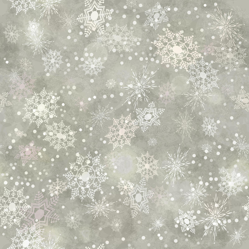 Wrapping Vintage Paper Snowflake Seamless Pattern stock illustration