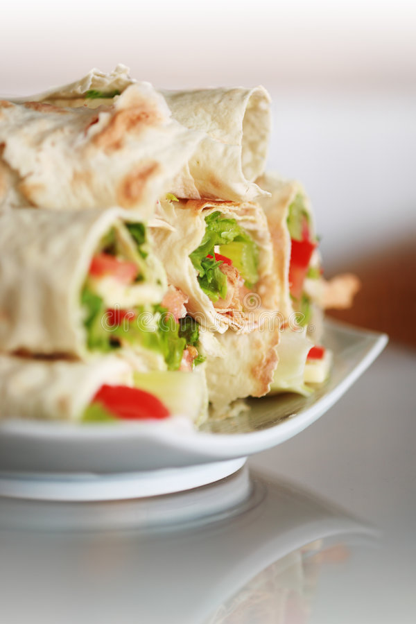 Wraps. stock photo