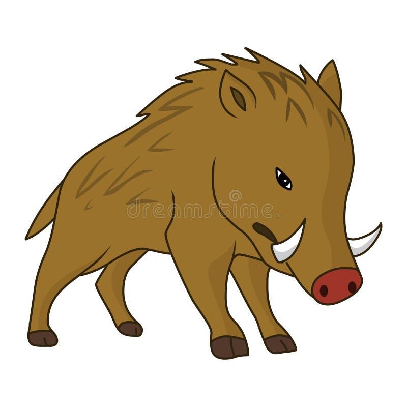 Wrattenzwijn vectorillustratie Beeld van de wrattenzwijn het royaltyvrije voorraad stock illustratie