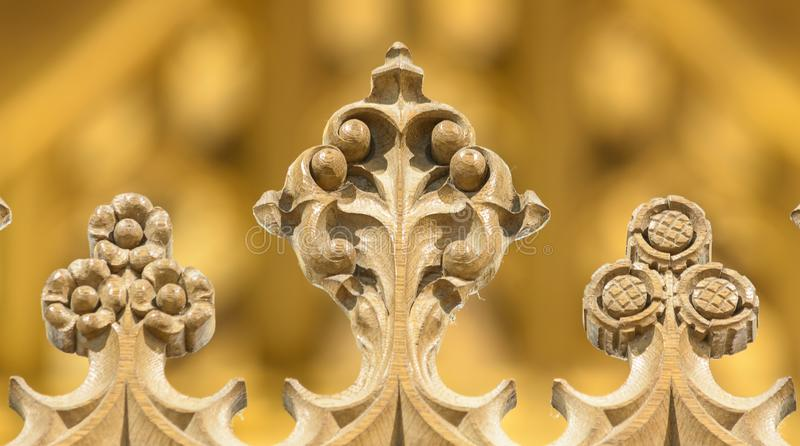 All Saints Church Decorated Details of Rood Screen. Wraxall, England - Feb 10, 2018: All Saints Church Decorated Details of Rood Screen stock photos