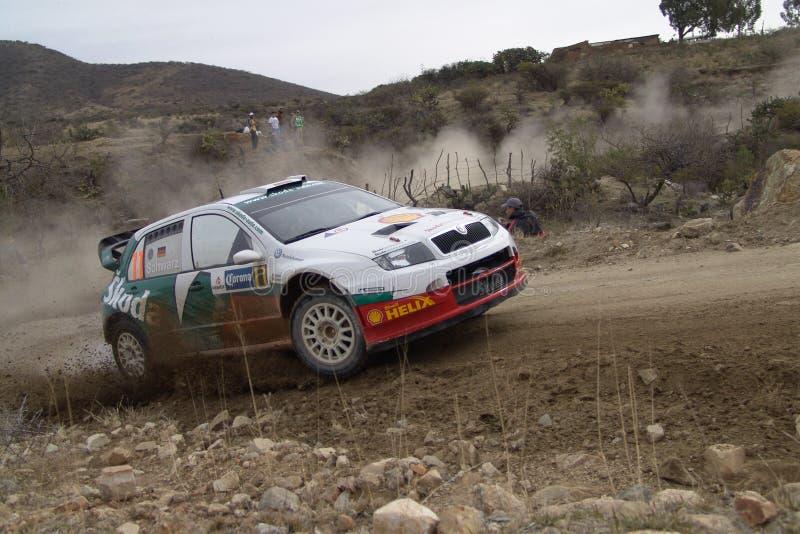 WRC CORONA RALLY MEXICO 2005 stock photography