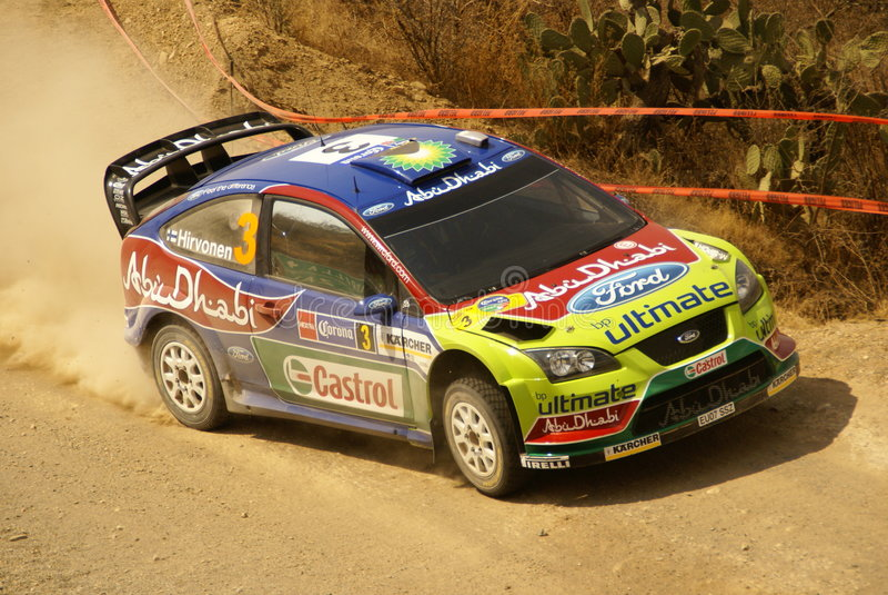 WRC Corona Rally Mexico stock images