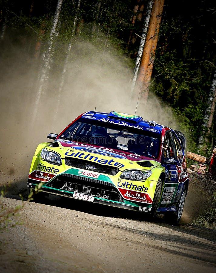 WRC Jyväskylä 2009. Mikko Hirvonen in Neste oil rally 2009 stock images