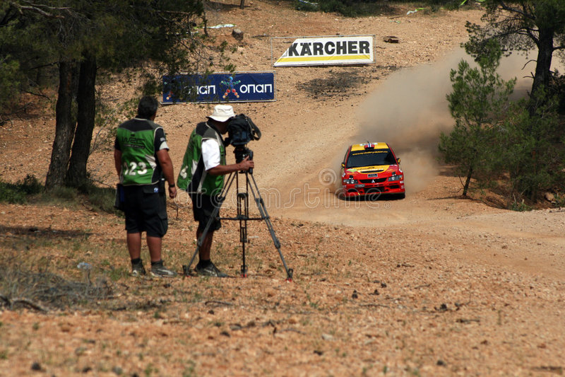 Download WRC Rally Acropolis editorial photo. Image of pine, dirt - 5318426