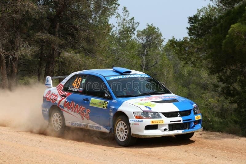 WRC Rally Acropolis royalty free stock photography