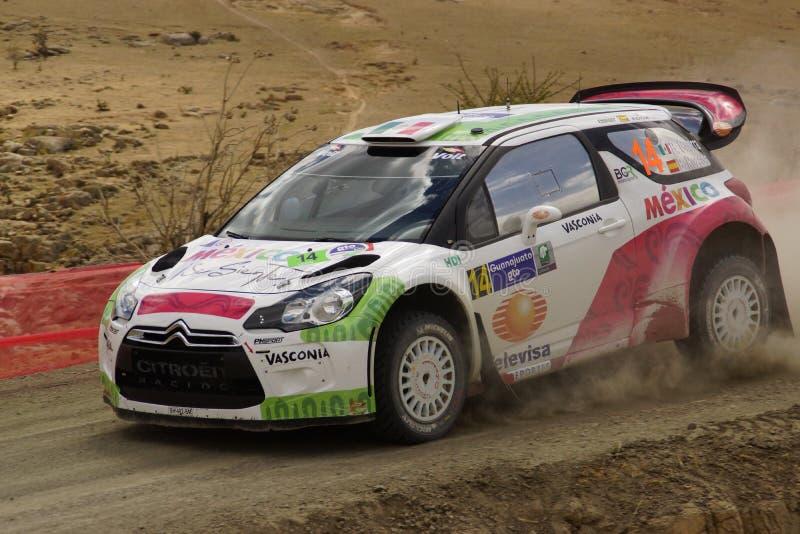 WRC Rally Guanajuato Mexico 2013 royalty free stock photo