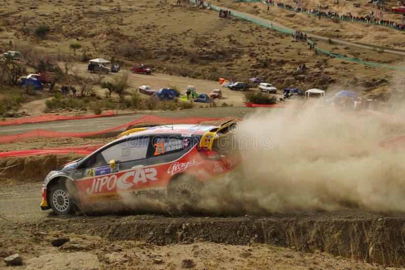 WRC Rally Guanajuato Mexico 2013 royalty free stock photography