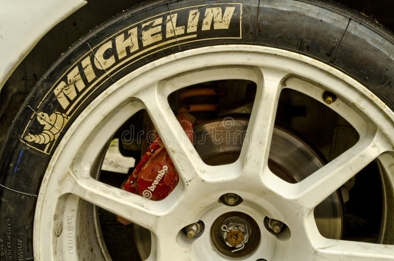 WRC sport wheels stock images