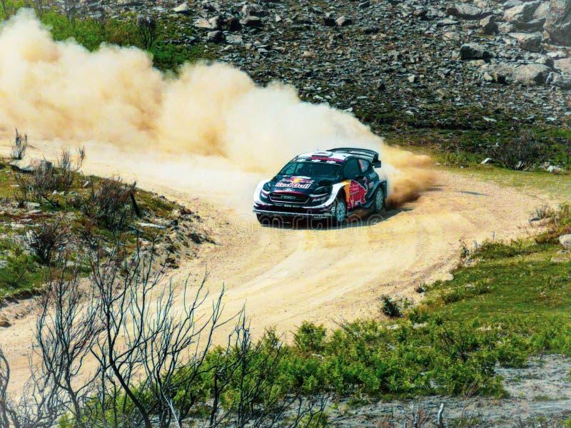 2018 WRC-Verzameling Portugal, Ford Fiesta R5 stock foto