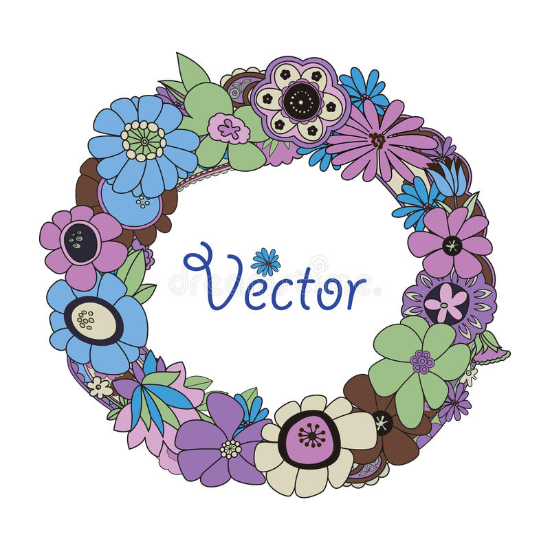 Download Wreath stock vector. Illustration of flowers, banner - 25527915