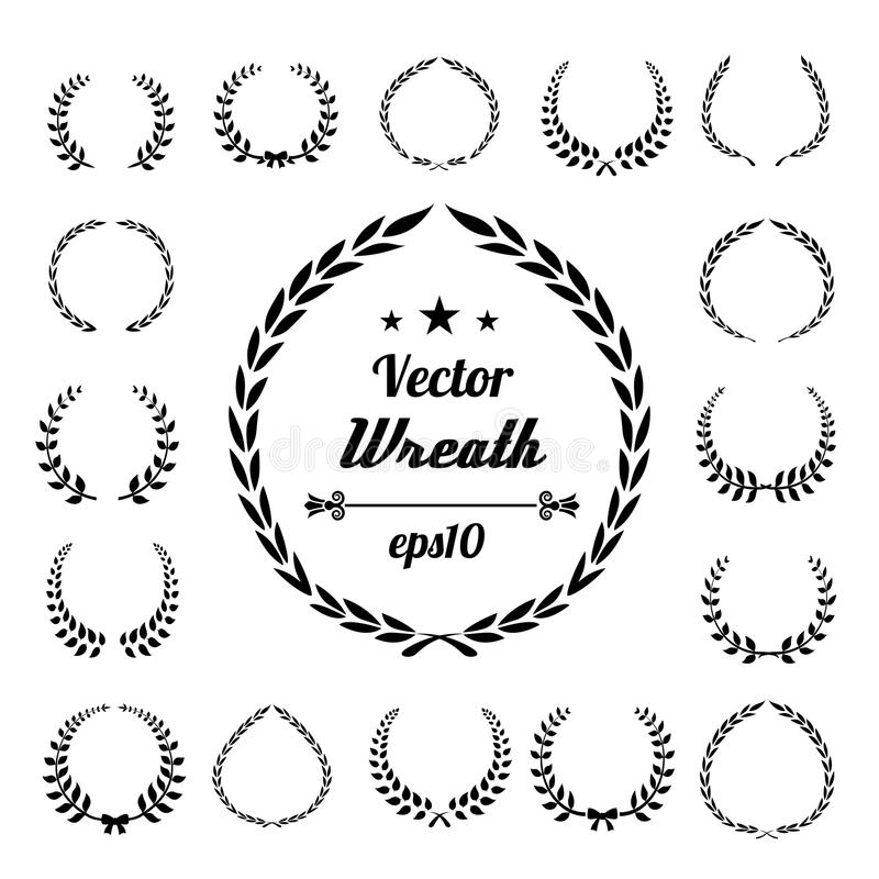 Wreath Laurel Vector Award Icon Frame Illustration Symbol