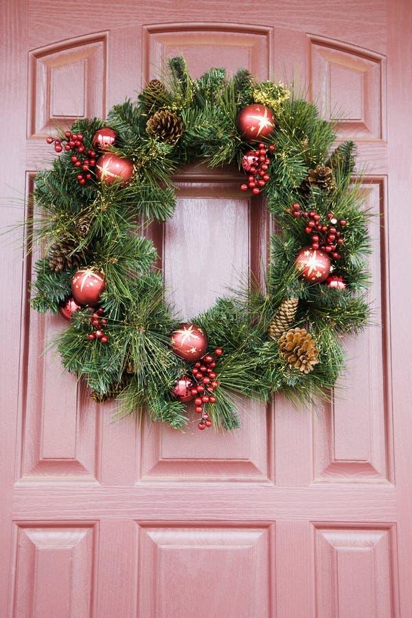 Wreath on door. stock images